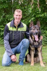 Benjamin Telkamp met Odin von Fuchsgraben